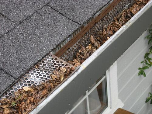 nettoyer un système de récupération d'eau de pluie sur gouttière.
